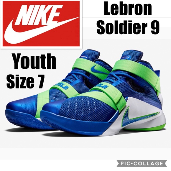 """the best attitude 82298 76c9d Nike Lebron James Soldier 9 """"Sprite"""" Size 7 Youth.  M 5aee2bd550687c042410d7f5"""